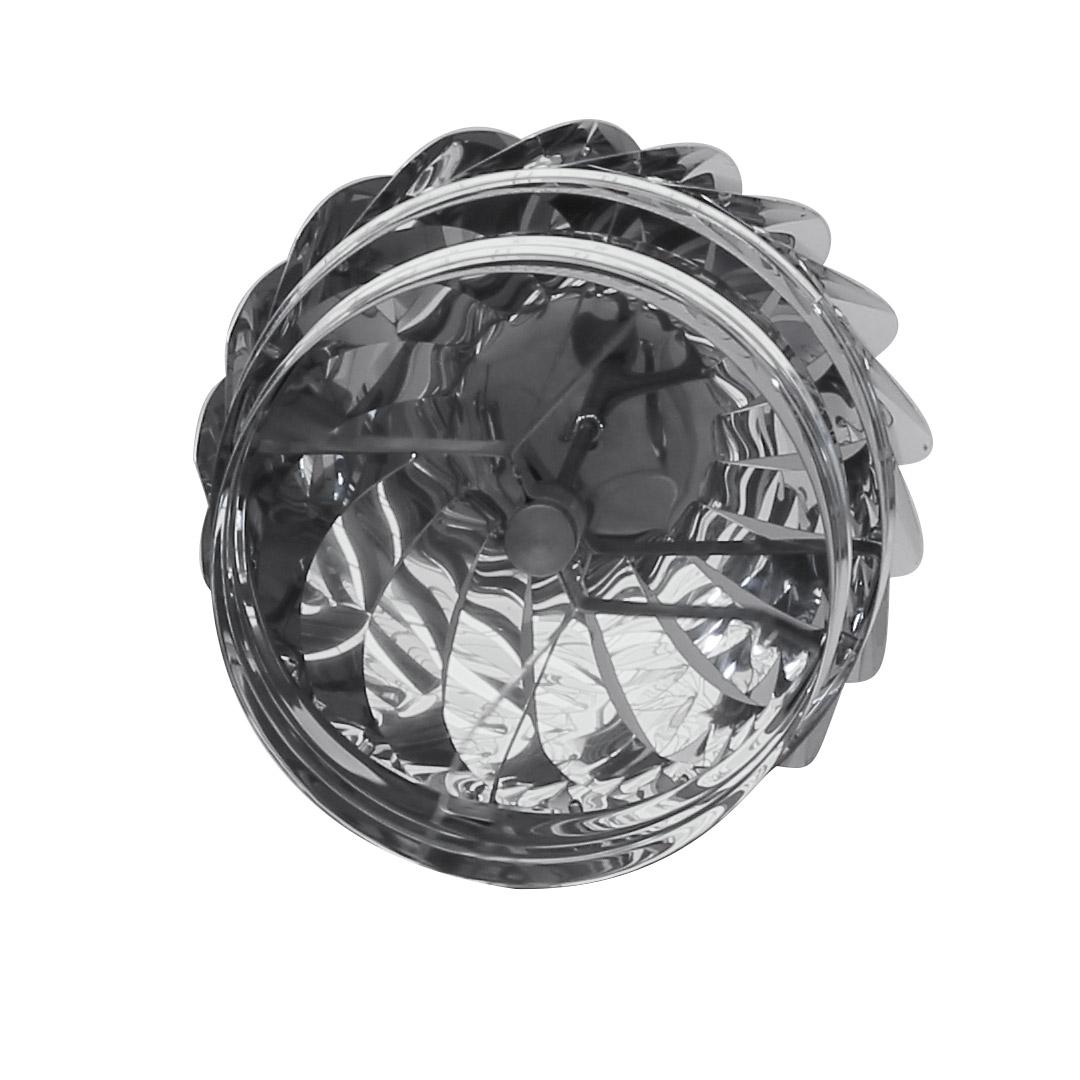 014 Cappello eolico girevole in acciaio inox 2