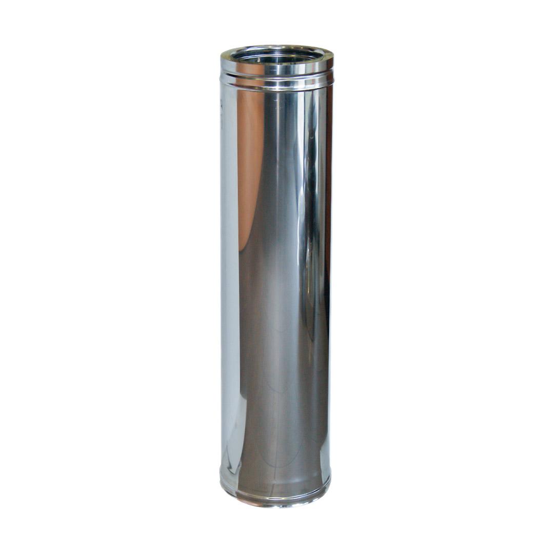 101 Tubo da 1000 doppia parete in acciaio inox