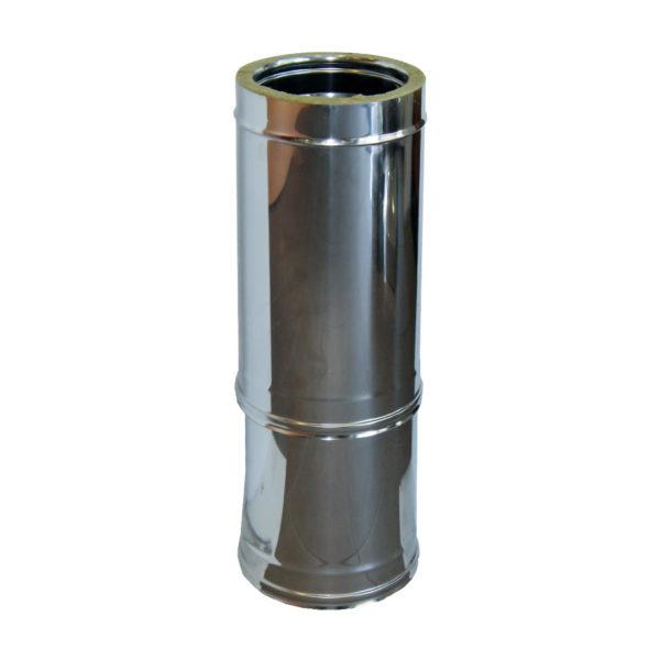 104 Tubo telescopico doppia parete in acciaio inox