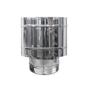 Art 015 comignolo a botte antivento in acciaio inox - Canne fumarie coibentate per stufe a pellet ...