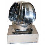 Art. 014Q Comignolo Eolico rotante in acciaio inox a base quadrata