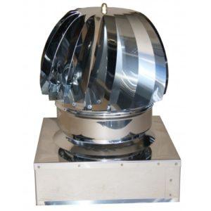 Art 014q comignolo eolico rotante in acciaio inox a base - Canne fumarie coibentate per stufe a pellet ...