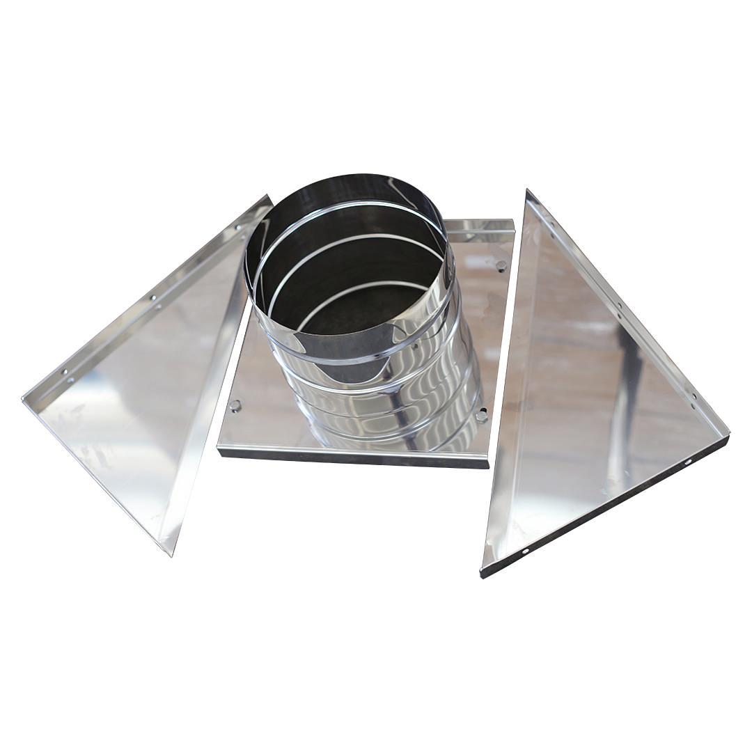 Art 018 piastra con tubo in acciaio inox alette per supporto murale - Piastra in acciaio inox per cucinare ...