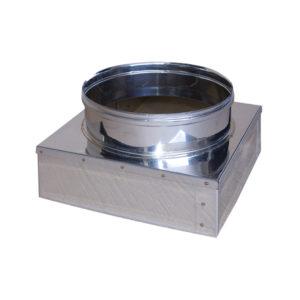 Art 045 riduttore da base quadrata a base tonda in - Canne fumarie coibentate per stufe a pellet ...