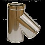 Art. 109 Raccordo a braga a 135° doppia parete in acciaio inox