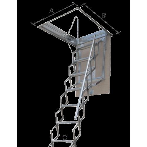 Art 257 lucernario top verticale in alluminio vetro for Scala per soffitta
