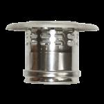 Art. 080 Esalatore verticale acciaio inox con cappello
