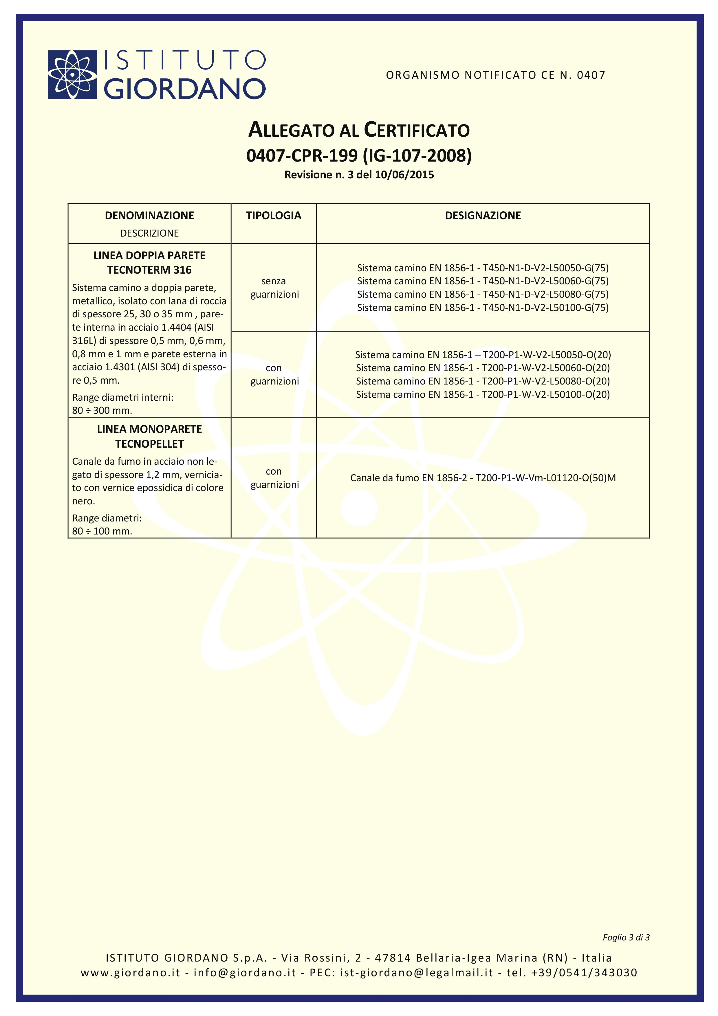 certificato tecnometal camini metallici 3