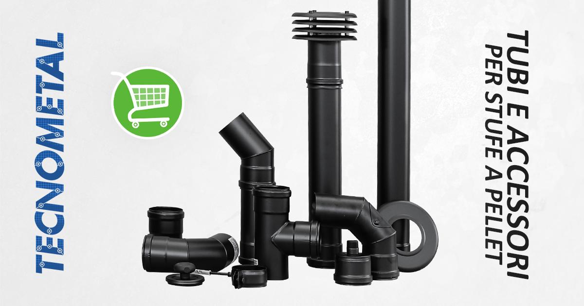 Acquista tubi e accessori per stufe a pellet online - Canne fumarie coibentate per stufe a pellet ...
